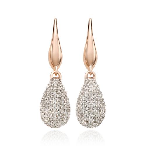 Rose Gold Vermeil Stellar Drop Earrings - Diamond - Monica Vinader