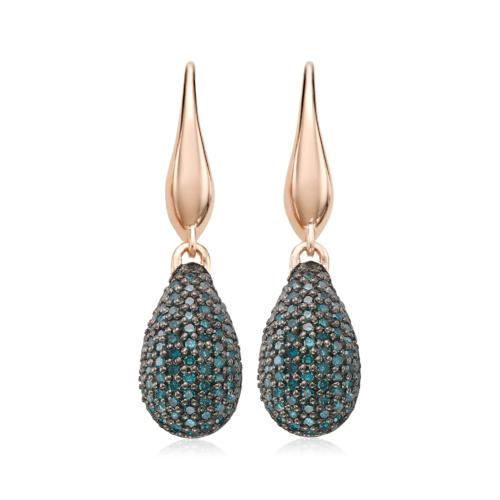 Rose Gold Vermeil Stellar Drop Earrings - Blue Diamond - Monica Vinader