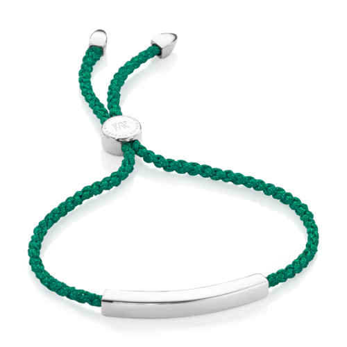 Linear Friendship Bracelet - Green Metallica - Monica Vinader