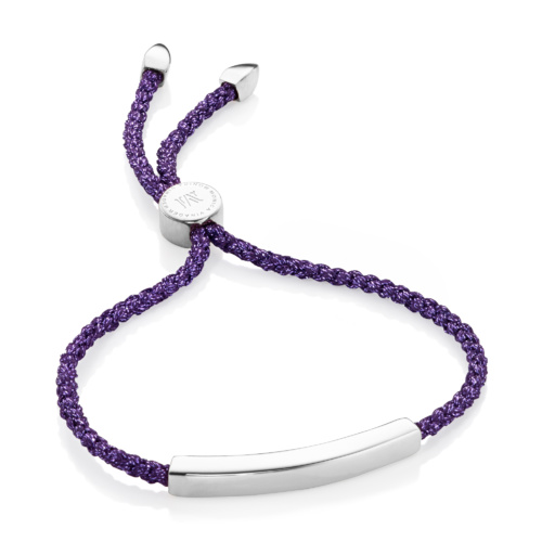 Linear Friendship Bracelet - Purple Metallica - Monica Vinader