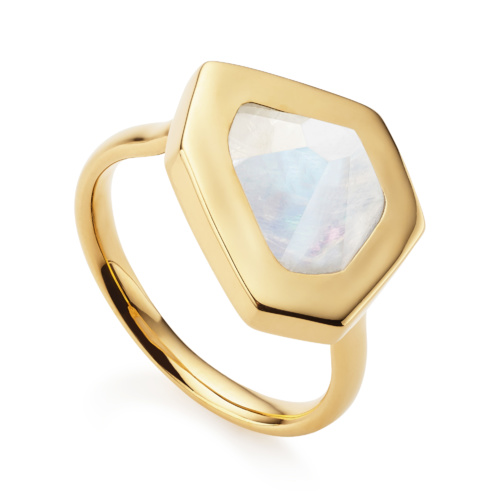 Gold Vermeil Petra Ring - Moonstone - Monica Vinader