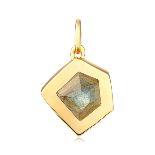 Gold Vermeil Petra Pendant - Labradorite - Monica Vinader