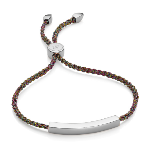 Linear Friendship Bracelet - Rainbow Metallica - Monica Vinader