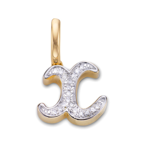 Gold Vermeil Diamond Alphabet Pendant X - Diamond - Monica Vinader