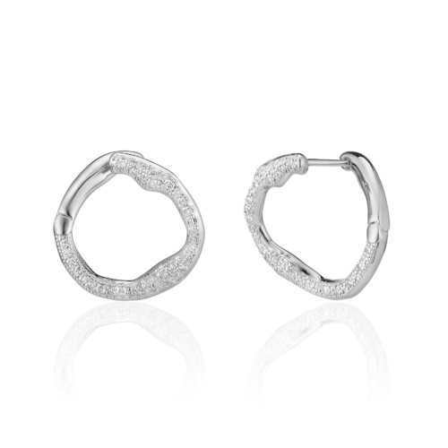 Riva Diamond Circle Earrings - Diamond - Monica Vinader