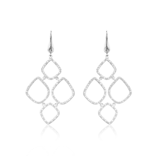 Riva Diamond Cluster Drop Earrings - Diamond - Monica Vinader