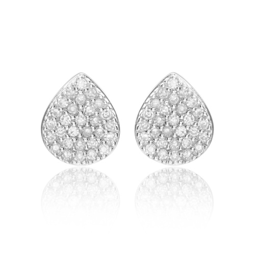 Alma Stud Earrings - Diamond - Monica Vinader