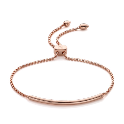 Rose Gold Vermeil Esencia Mini Chain Bracelet - Rose Gold - Monica Vinader