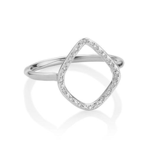 Riva Diamond Hoop Ring - Diamond - Monica Vinader