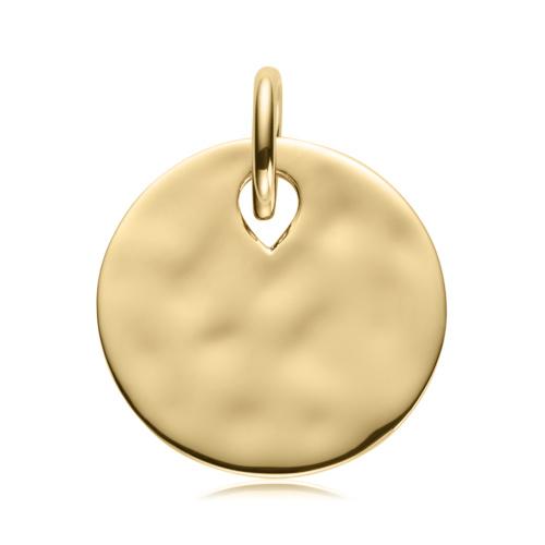 Gold Vermeil Ziggy Round Pendant - Monica Vinader