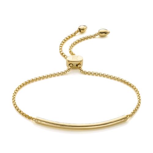 Gold Vermeil Esencia Mini Chain Bracelet - Gold - Monica Vinader