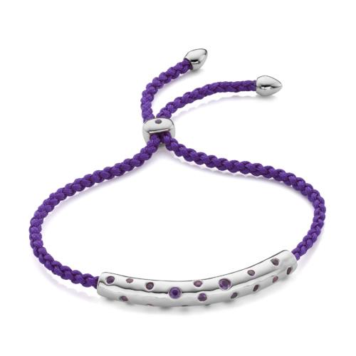 Esencia Scatter Friendship Bracelet - Amethyst - Monica Vinader