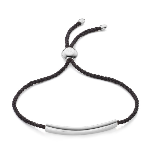 Esencia Fine Corded Friendship Bracelet - Black - Monica Vinader