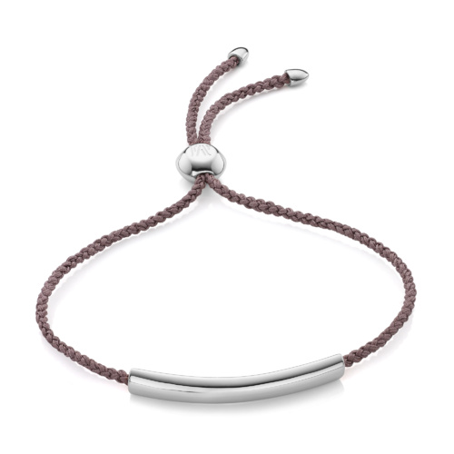 Esencia Fine Corded Friendship Bracelet - Mink - Monica Vinader