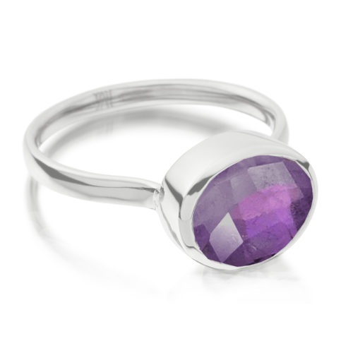 Candy Oval Ring - Amethyst - Monica Vinader