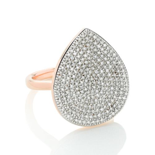 Rose Gold Vermeil Alma Large Ring - Diamond - Monica Vinader