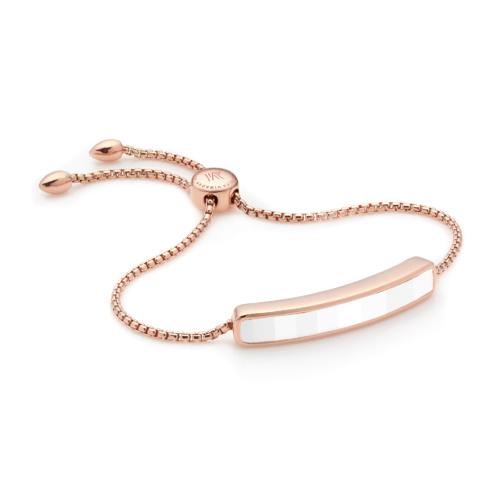 Rose Gold Vermeil Baja Bracelet - White Chalcedony - Monica Vinader