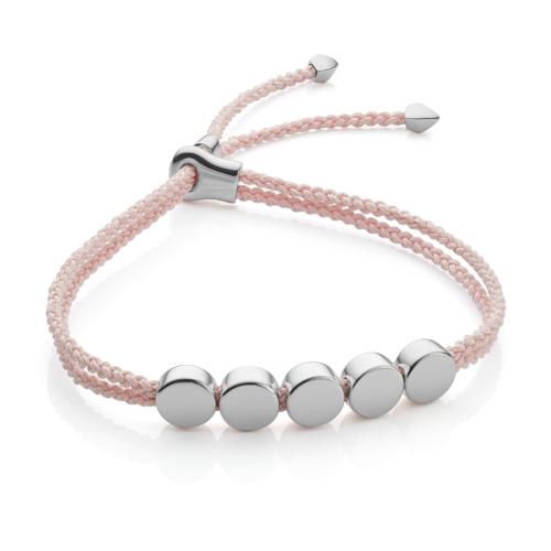 Linear Bead Friendship Bracelet - Ballet Pink - Monica Vinader