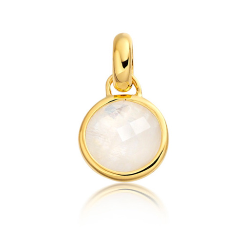 Gold Vermeil Mini Luna Pendant - Moonstone - Monica Vinader
