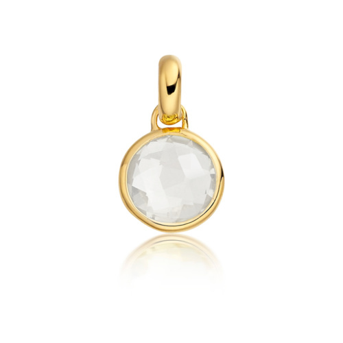 Gold Vermeil Mini Luna Pendant - Rock Crystal - Monica Vinader