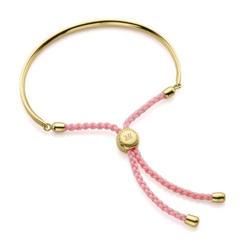 Gold Vermeil Fiji Friendship Petite Bracelet - Ballet Pink - Monica Vinader