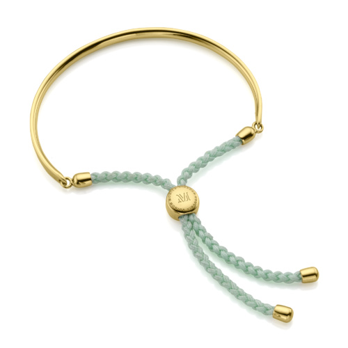 Gold Vermeil Fiji Friendship Petite Bracelet - Mint - Monica Vinader