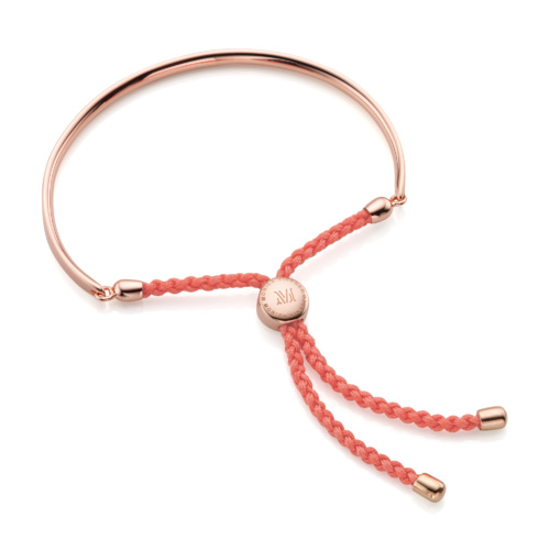 Rose Gold Vermeil Fiji Friendship Petite Bracelet - Peach - Monica Vinader