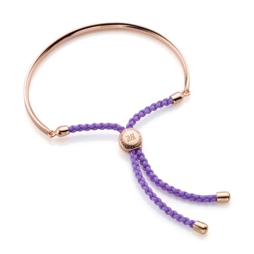 Rose Gold Vermeil Fiji Friendship Petite Bracelet - Violet - Monica Vinader