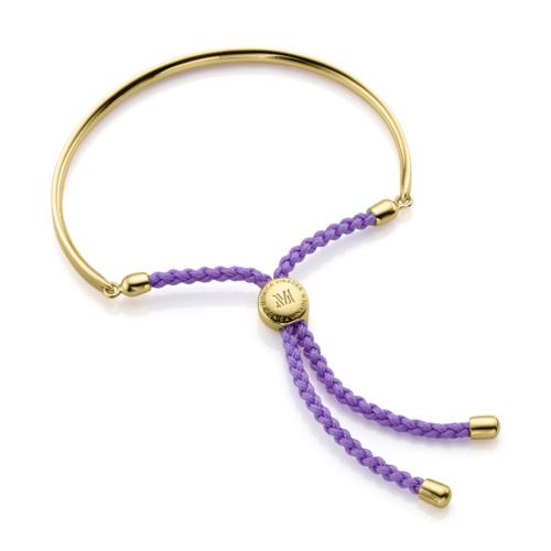 Gold Vermeil Fiji Friendship Petite Bracelet - Violet - Monica Vinader
