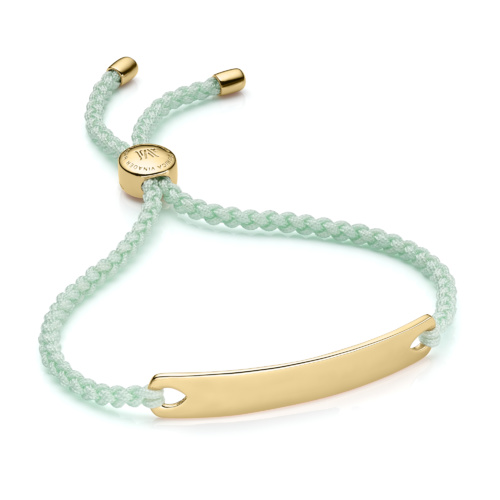 Gold Vermeil Havana Friendship Bracelet - Mint - Monica Vinader