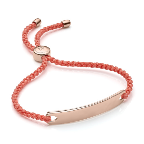 Rose Gold Vermeil Havana Friendship Bracelet - Peach - Monica Vinader