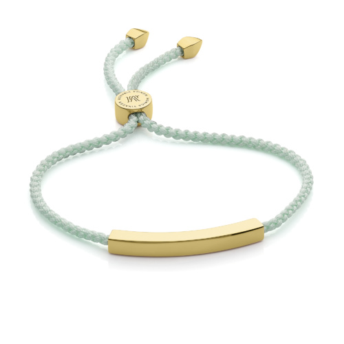 Gold Vermeil Linear Friendship Bracelet - Mint - Monica Vinader