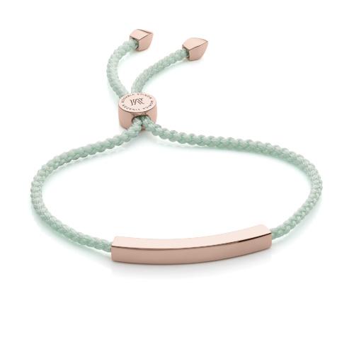 Rose Gold Vermeil Linear Friendship Bracelet - Mint - Monica Vinader