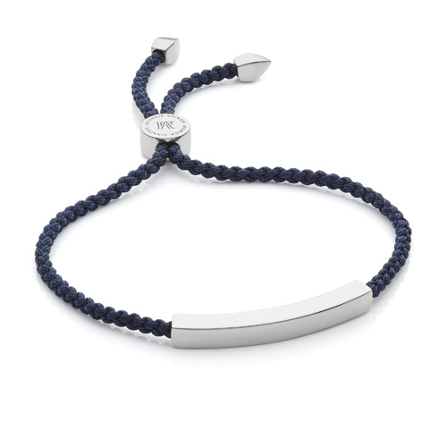 Linear Friendship Bracelet - Navy Blue - Monica Vinader
