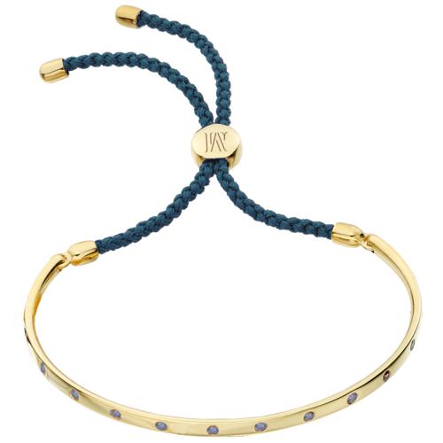 Gold Vermeil Fiji Gem Bracelet - Aqua Blue - Good Fortune - Monica Vinader