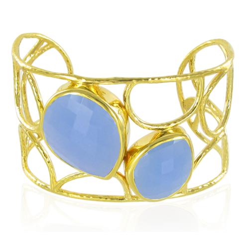 Gold Vermeil Nugget Cuff - No stone - Monica Vinader