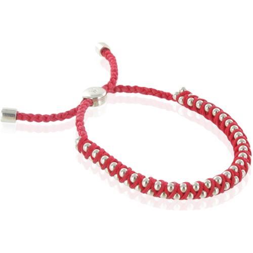 Rio Friendship Bracelet - Red - Luck - Monica Vinader