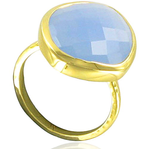 Gold Vermeil Nugget Ring - Large - No stone - Monica Vinader
