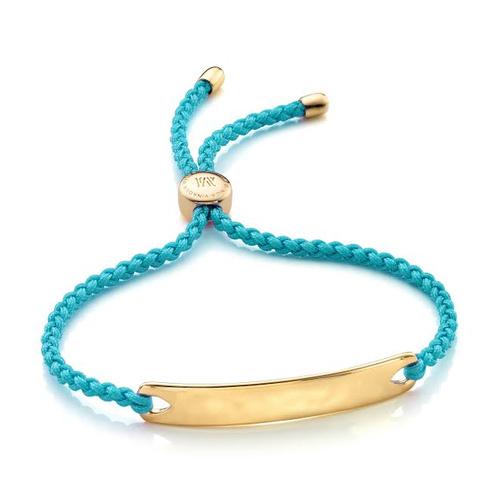Gold Vermeil Havana Friendship Bracelet - Turquoise - Monica Vinader