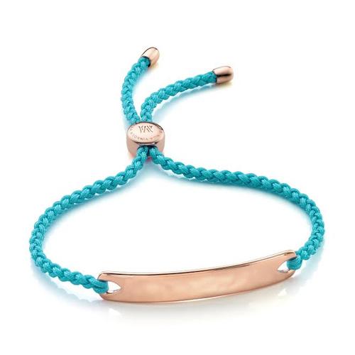 Rose Gold Vermeil Havana Friendship Bracelet - Turquoise - Monica Vinader