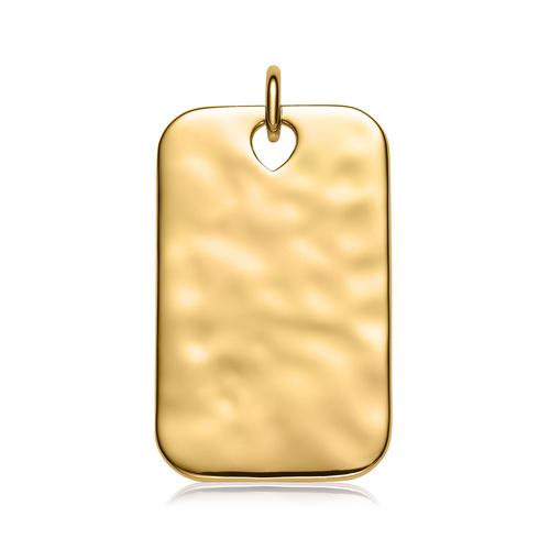 Gold Vermeil Havana Large ID Pendant - Monica Vinader