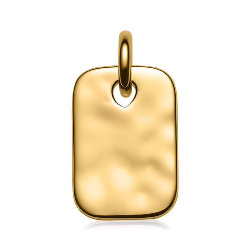 Gold Vermeil Havana Mini ID Pendant - Monica Vinader