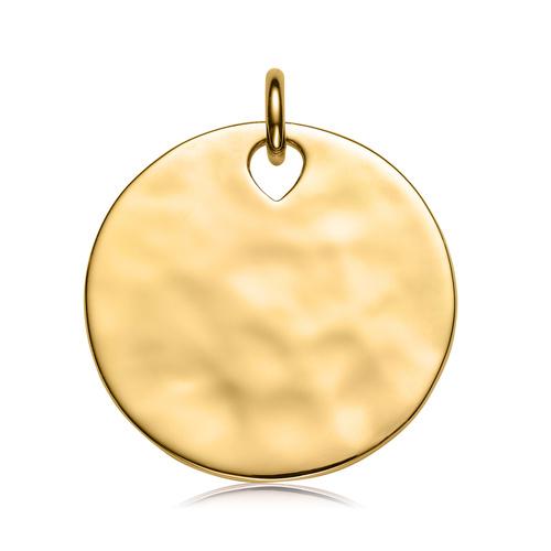 Gold Vermeil Havana Large Round Pendant - Monica Vinader