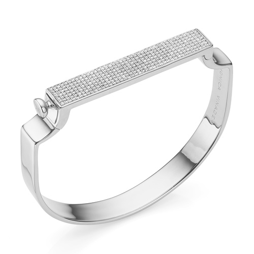 Signature Large Bangle  - Diamond - Monica Vinader