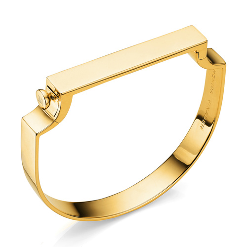 Gold Vermeil Signature Large Bangle  - Monica Vinader