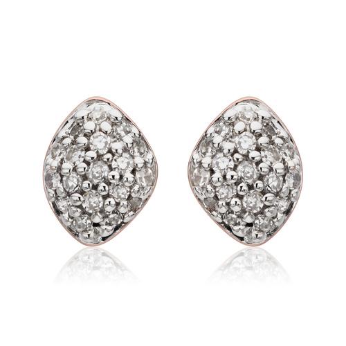 Rose Gold Vermeil Nura Mini Teardrop Stud Earrings - Diamond - Monica Vinader