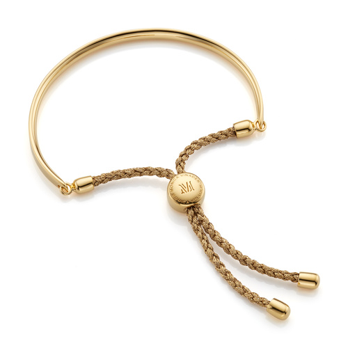 Gold Vermeil Fiji Friendship Bracelet - Gold Metallica - Monica Vinader