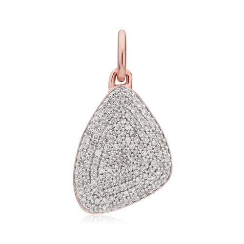 Rose Gold Vermeil Nura Teardrop Pendant  - Diamond - Monica Vinader