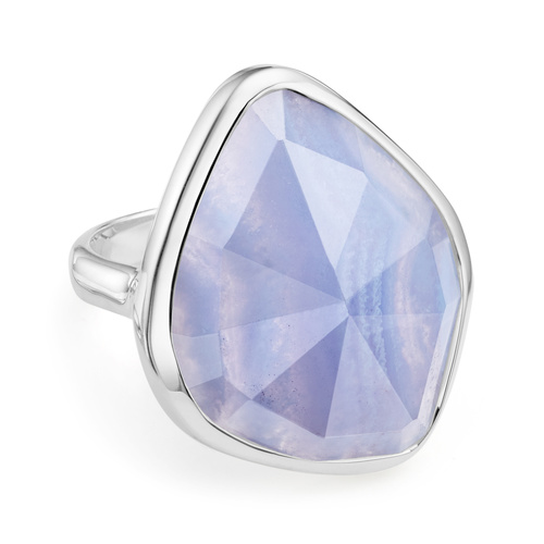 Siren Nugget Cocktail Ring - Blue Lace Agate - Monica Vinader