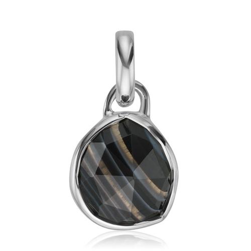 Mini Siren Bezel Pendant - Black Line Onyx - Monica Vinader